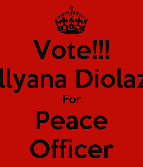 Vote!!! Jillyana Diolazo For Peace Officer