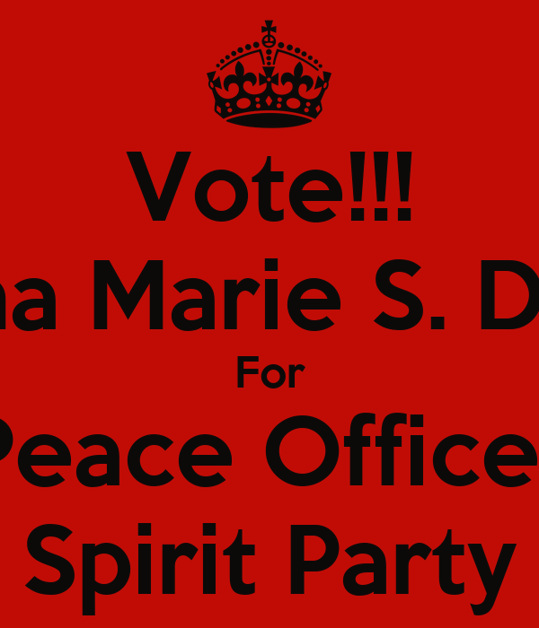 Vote!!! Jillyana Marie S. Diolazo For Peace Officer Spirit Party