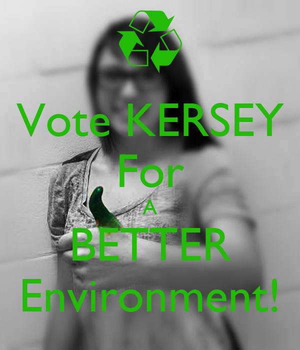 Vote KERSEY For A BETTER Environment!