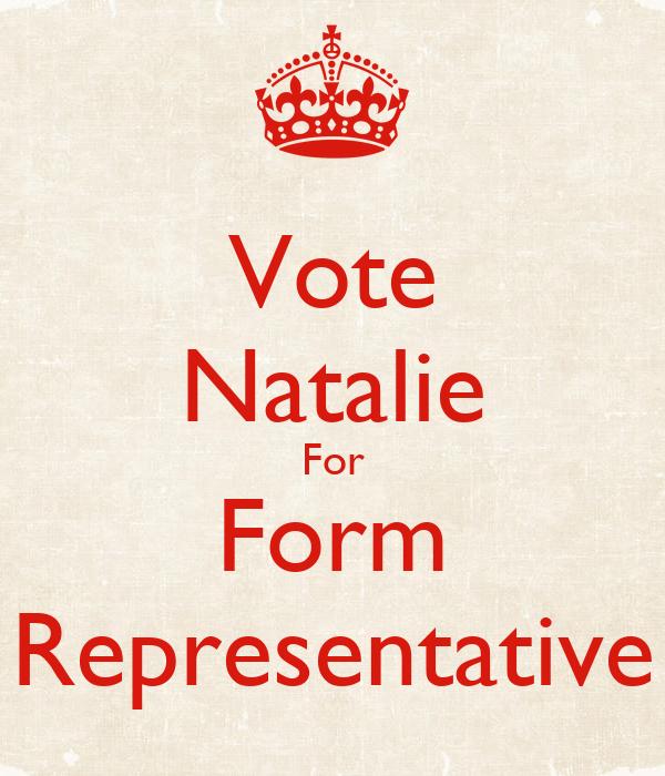 Vote Natalie For Form Representative