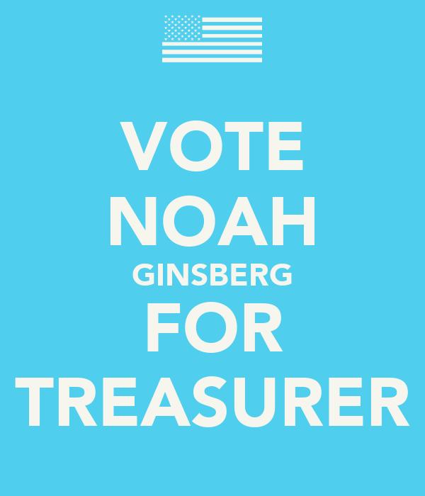 VOTE NOAH GINSBERG FOR TREASURER