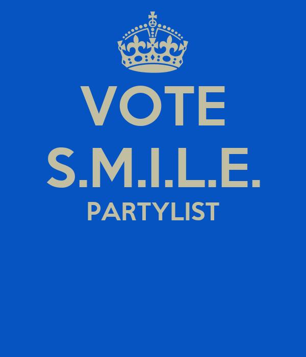 VOTE S.M.I.L.E. PARTYLIST