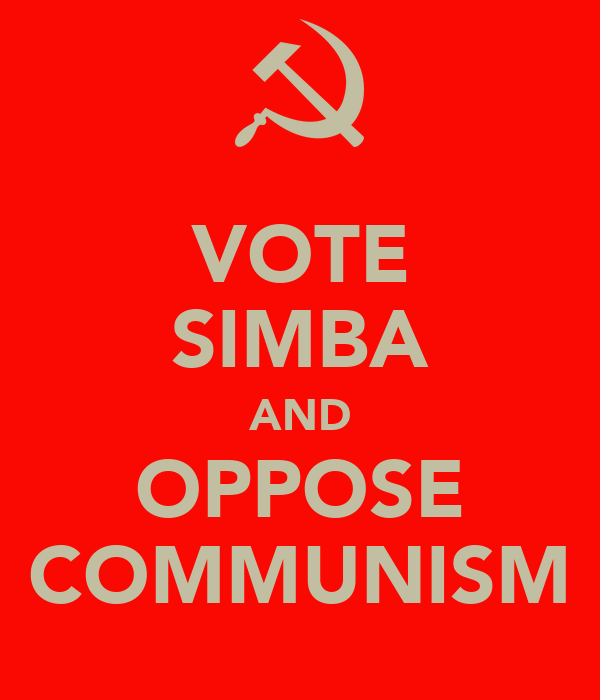 VOTE SIMBA AND OPPOSE COMMUNISM
