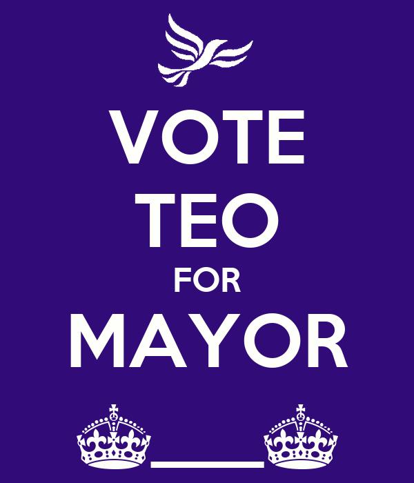 VOTE TEO FOR MAYOR ^___^