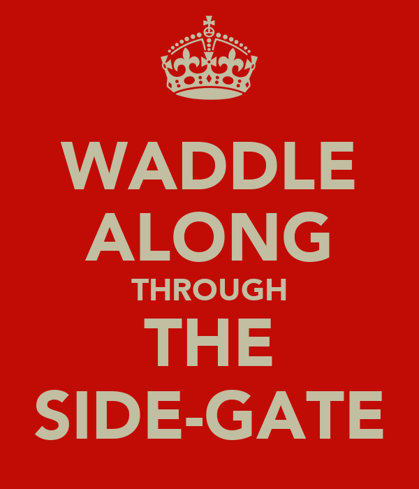 WADDLE ALONG THROUGH THE SIDE-GATE