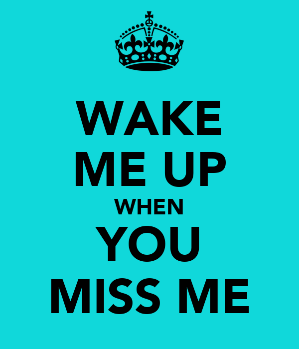 WAKE ME UP WHEN YOU MISS ME