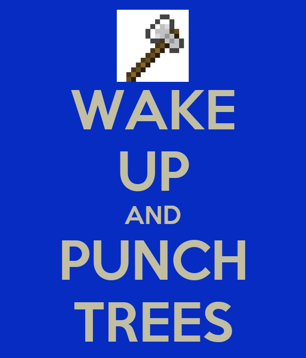 WAKE UP AND PUNCH TREES