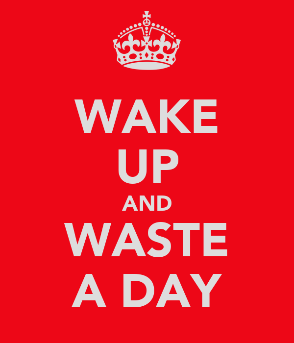 WAKE UP AND WASTE A DAY