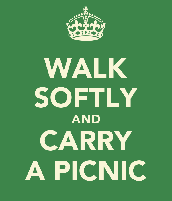 WALK SOFTLY AND CARRY A PICNIC
