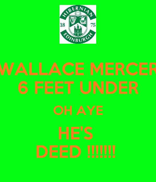 WALLACE MERCER 6 FEET UNDER OH AYE HE'S  DEED !!!!!!!
