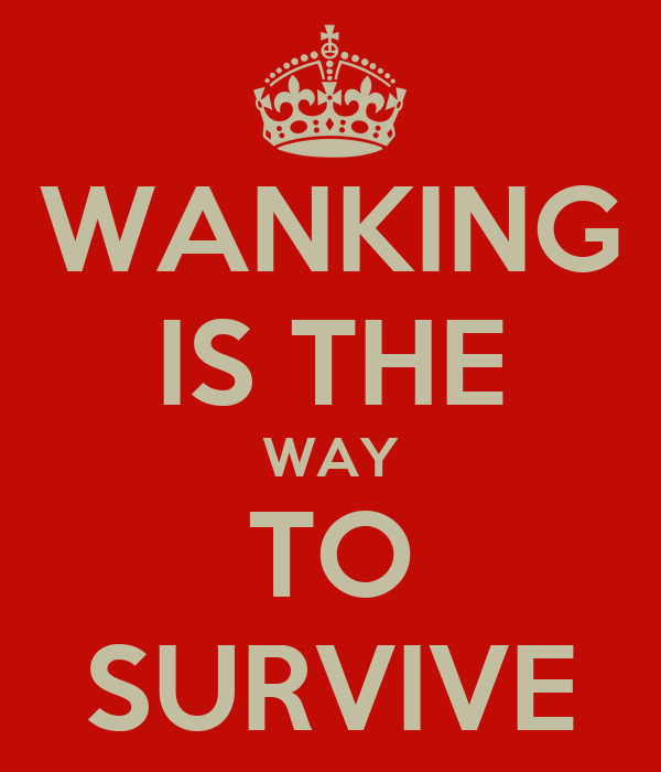 WANKING IS THE WAY TO SURVIVE