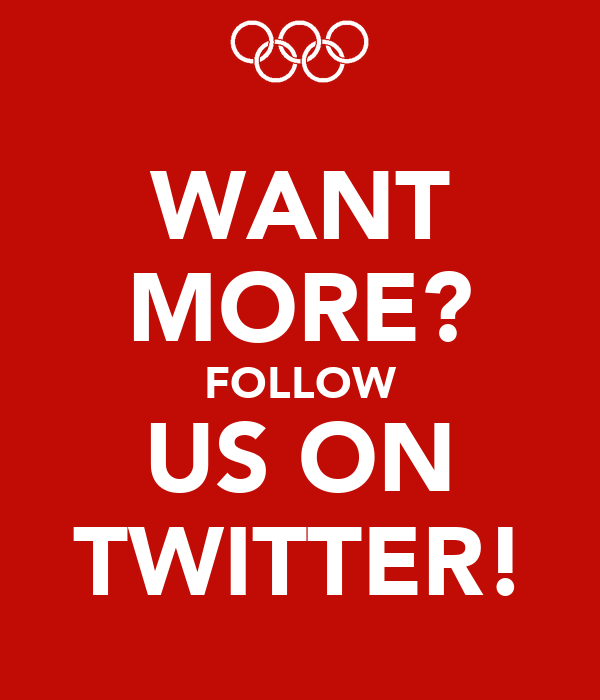WANT MORE? FOLLOW US ON TWITTER!