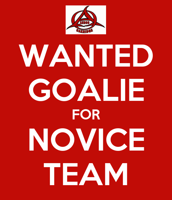 WANTED GOALIE FOR NOVICE TEAM