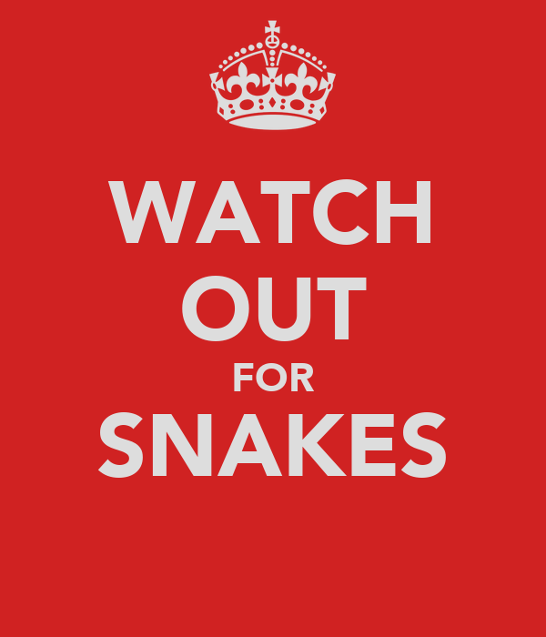 WATCH OUT FOR SNAKES