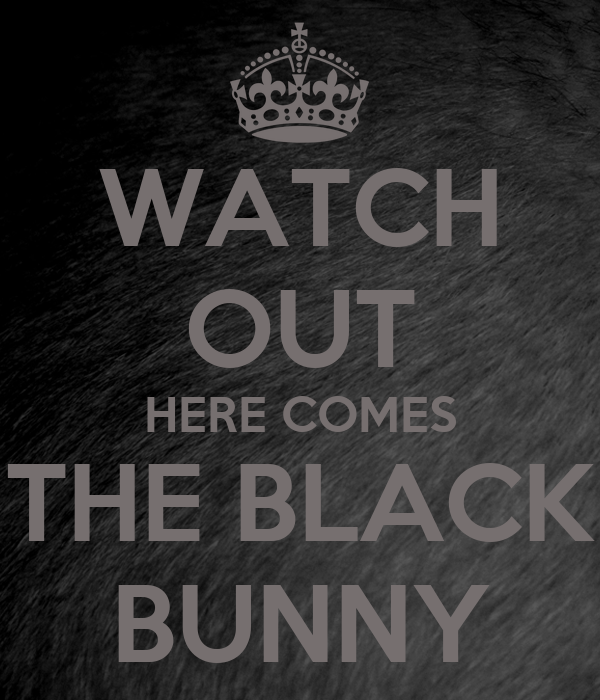 WATCH OUT HERE COMES THE BLACK BUNNY