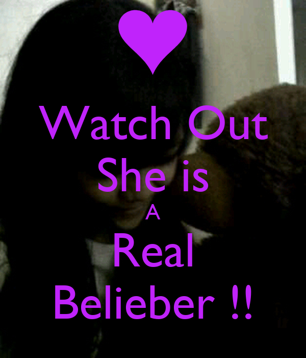 Watch Out She is A Real Belieber !!