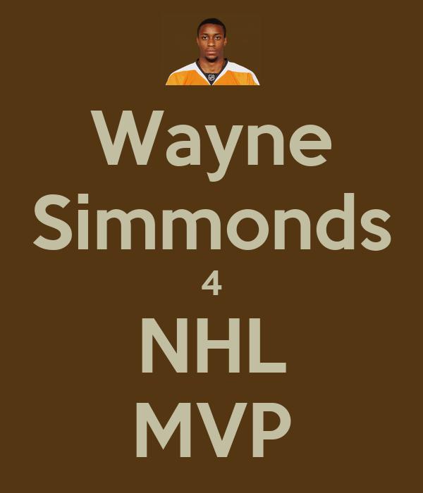 Wayne Simmonds 4 NHL MVP