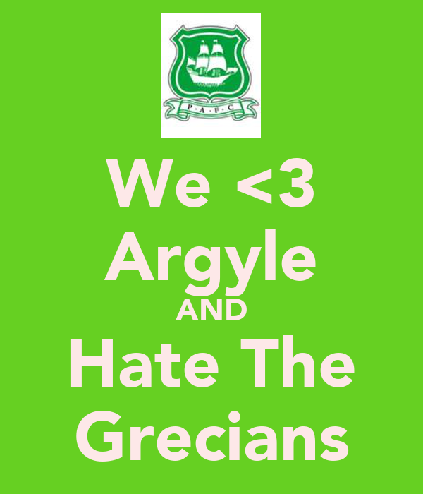 We <3 Argyle AND Hate The Grecians