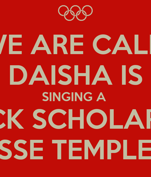 WE ARE CALM DAISHA IS SINGING A  TRACK SCHOLARSHIP WITH TENNESSE TEMPLE UNIVERSITY