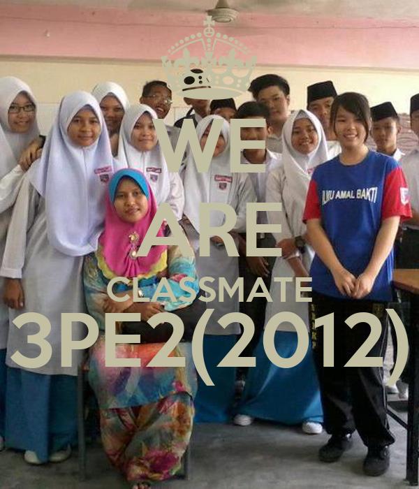 WE ARE CLASSMATE 3PE2(2012)