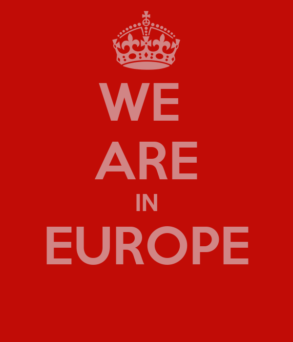 WE  ARE IN EUROPE