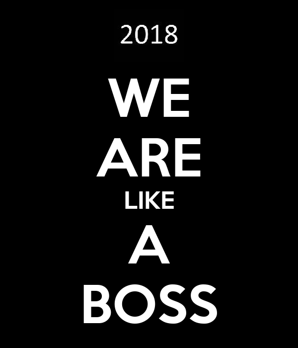 WE ARE LIKE A BOSS