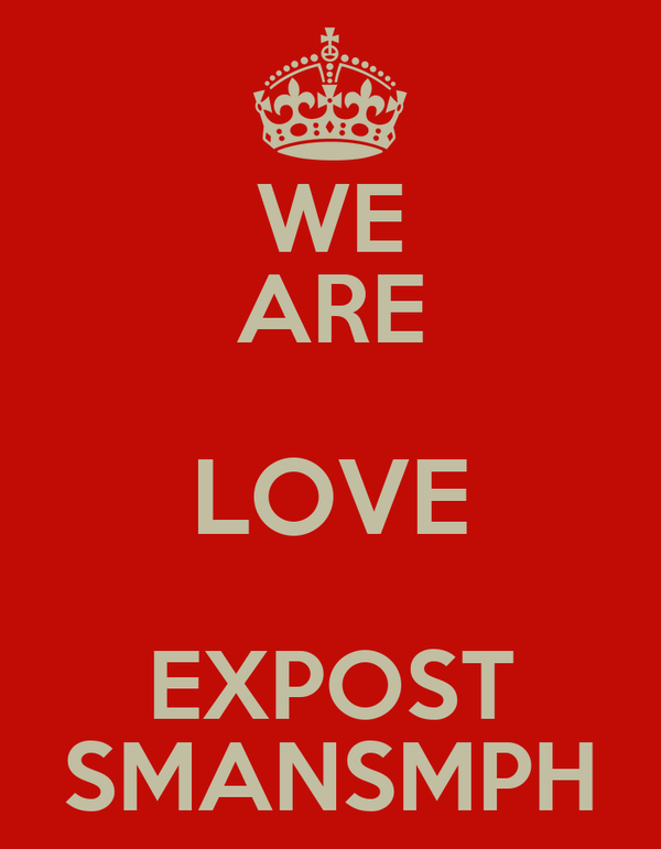 WE ARE LOVE EXPOST SMANSMPH