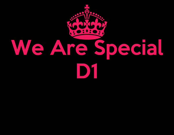 We Are Special D1