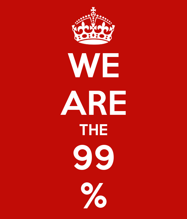 WE ARE THE 99 %