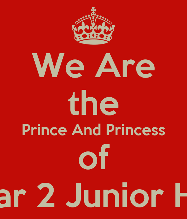 We Are the Prince And Princess of Eben Haezar 2 Junior High School
