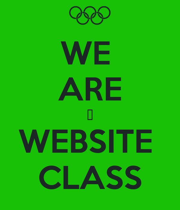 WE  ARE ♥ WEBSITE  CLASS