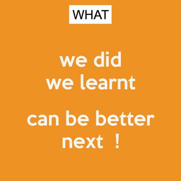 we did we learnt  can be better next  !