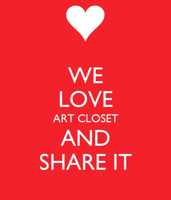 WE LOVE ART CLOSET AND SHARE IT