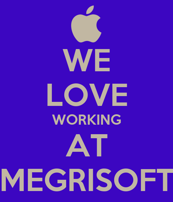 WE LOVE WORKING AT MEGRISOFT