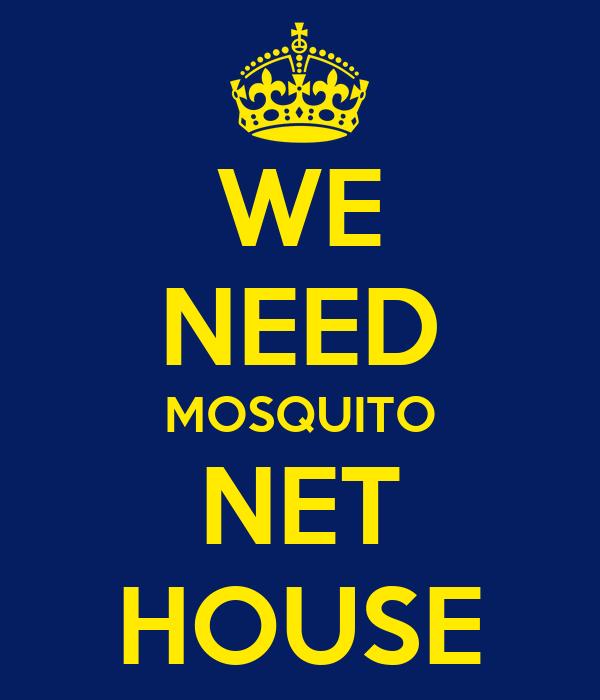 WE NEED MOSQUITO NET HOUSE