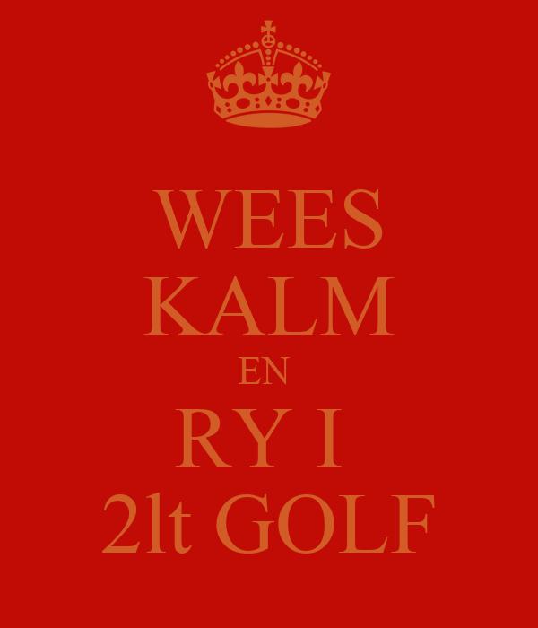 WEES KALM EN  RY I  2lt GOLF