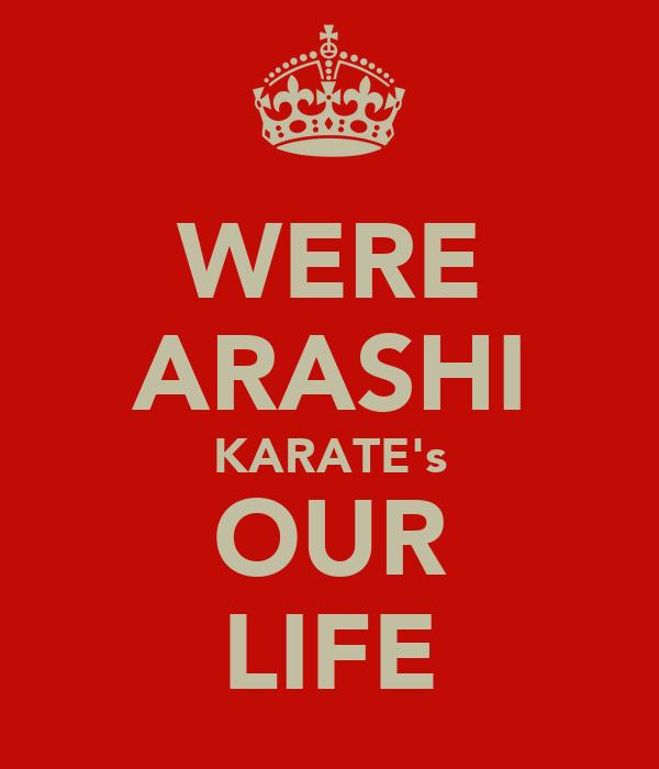 WERE ARASHI KARATE's OUR LIFE