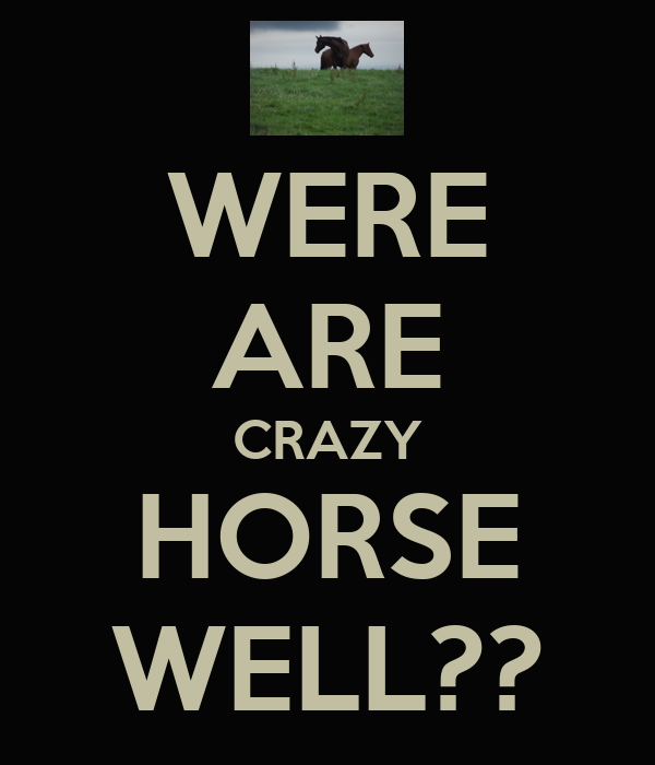 WERE ARE CRAZY HORSE WELL??