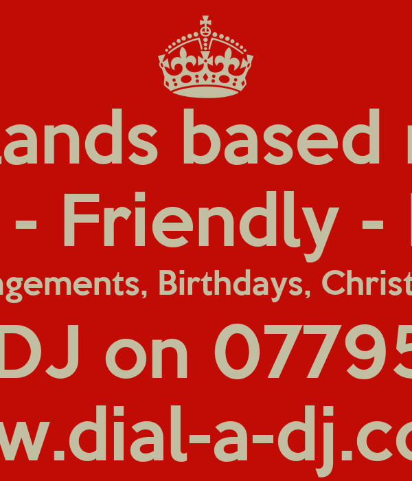 West Midlands based mobile DJ Professional - Friendly - Experienced Weddings, Engagements, Birthdays, Christmas, New Year DIAL-A-DJ on 07795246427 www.dial-a-dj.co.uk