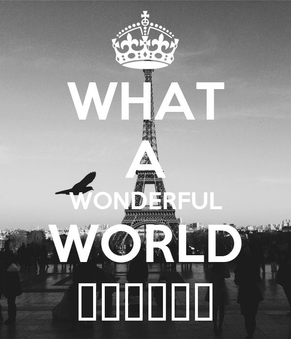 What A Wonderful World Poster Star4eves Keep Calm O Matic