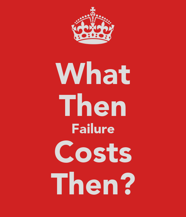 What Then Failure Costs Then?