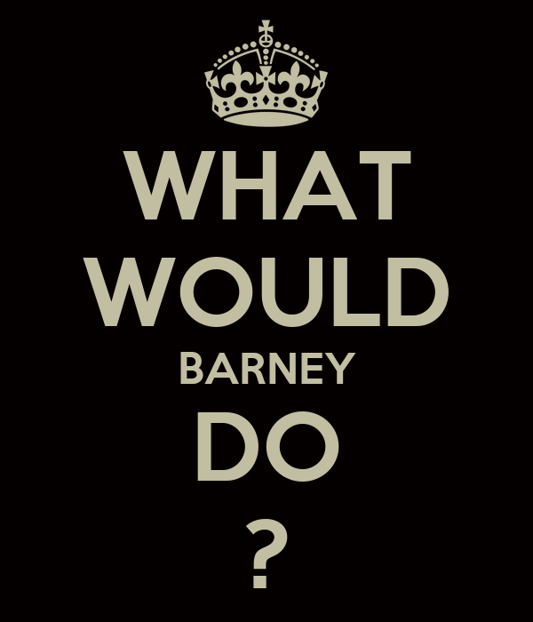 WHAT WOULD BARNEY DO ?
