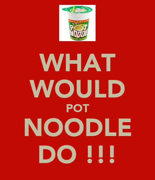 WHAT WOULD POT NOODLE DO !!!