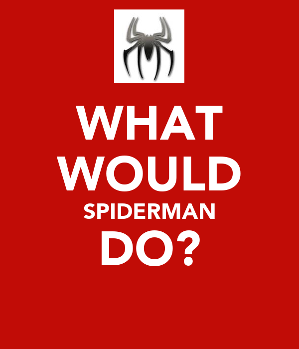WHAT WOULD SPIDERMAN DO?
