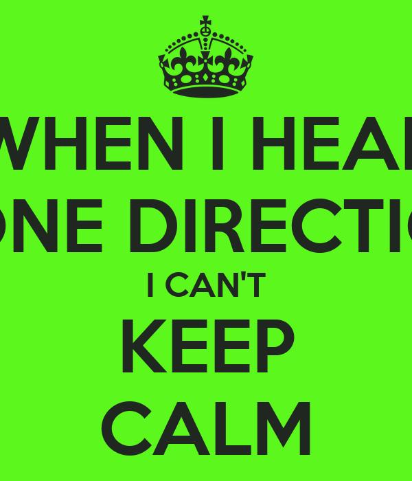 WHEN I HEAR ONE DIRECTIO I CAN'T KEEP CALM