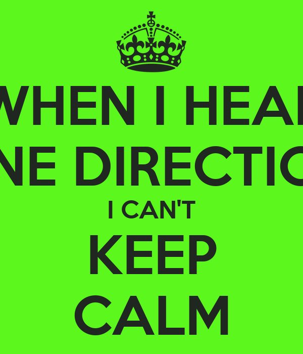 WHEN I HEAR ONE DIRECTION I CAN'T KEEP CALM