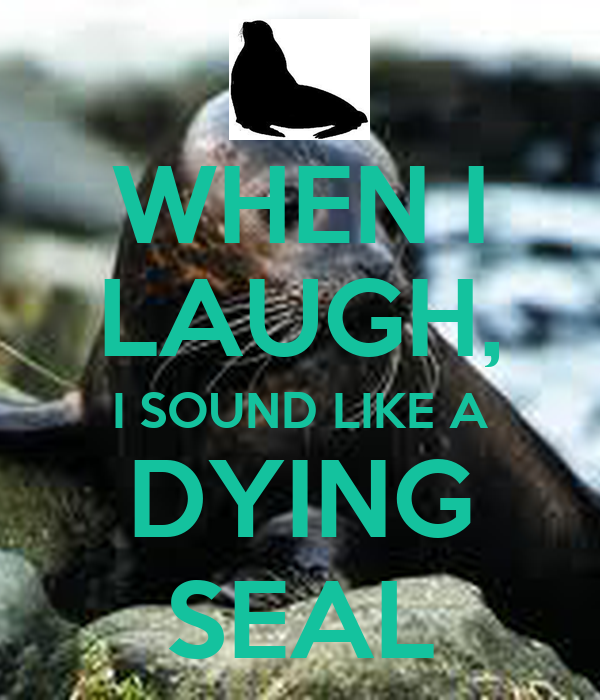 WHEN I LAUGH, I SOUND LIKE A DYING SEAL