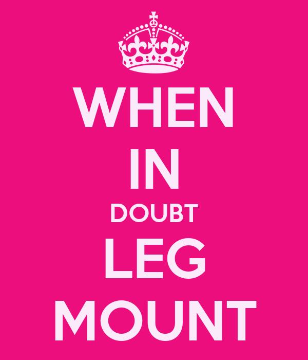 WHEN IN DOUBT LEG MOUNT