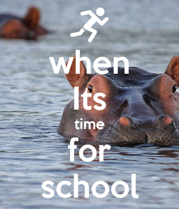 when Its time for school