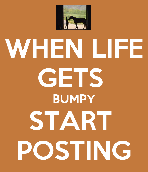 WHEN LIFE GETS  BUMPY START  POSTING